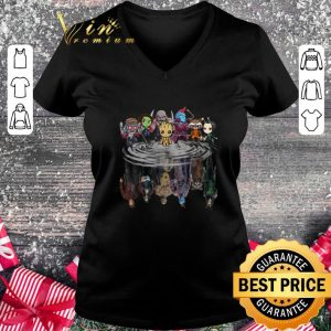 Funny Guardians of the Galaxy characters reflection water mirror shirt