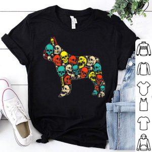 Hot Frenchie Dog Skull Skeleton Halloween Costume shirt