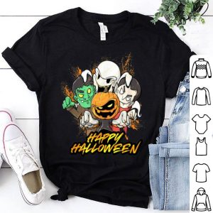 Hot Halloween Pumpkin Face Vampire Ghost Frankenstein shirt