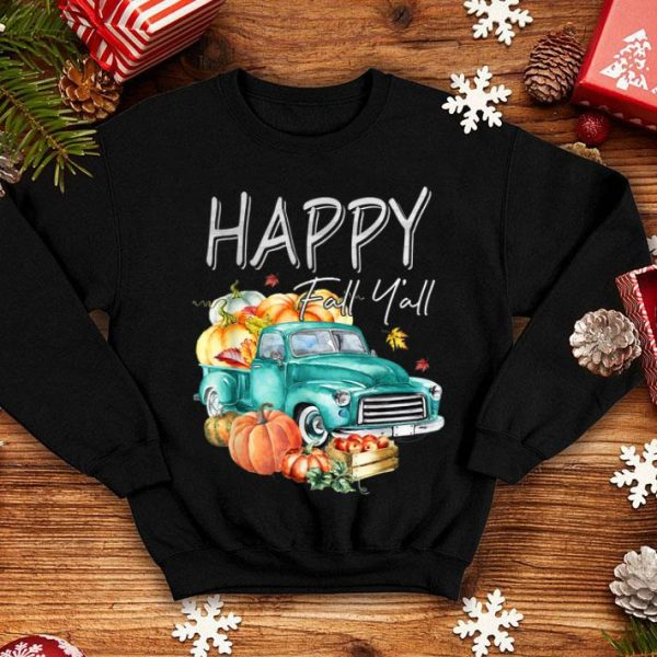 Hot Happy Fall Y'all Harvest Truck With Pumpkin Cute Autumn shirt