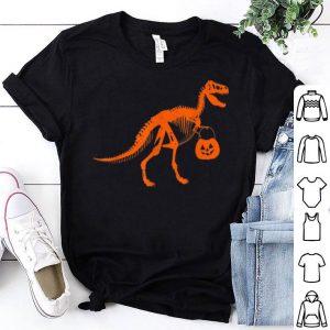 Nice T Rex Dinosaur Skeleton Pumpkin Unique Funny Halloween shirt