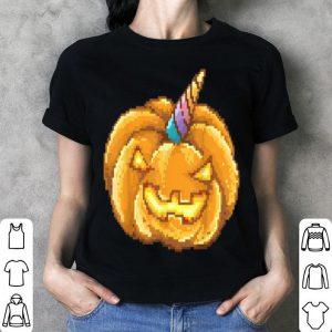 Official Cute Kawaii Jack O Lantern Unicorn Pumpkin Halloween shirt