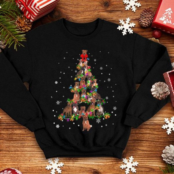 Official Cute Staffie dog Christmas Tree gift decor Xmas tree shirt
