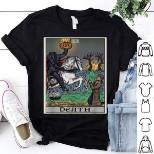 Official Death Tarot Card Halloween Pagan Witch Gothic shirt