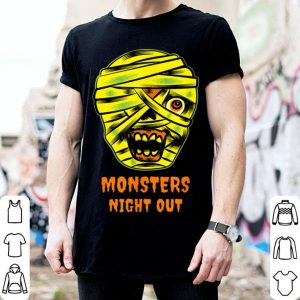 Official Monsters Night Out with Mummies Funny Easy Halloween Costume shirt