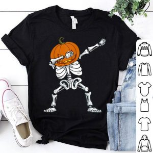 Original Halloween Dabbing Skeleton Pumpkin Funny Boys Dab Costume shirt