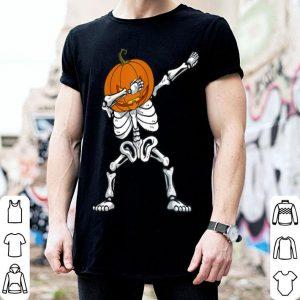 Original Halloween Dabbing Skeleton Pumpkin Funny Boys Dab Costume shirt