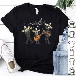 Premium Mexican Mariachi Day of the Dead Skeleton Halloween shirt