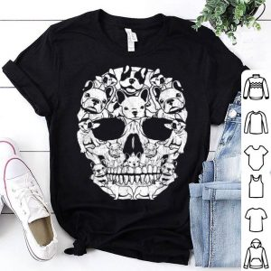 Top French Bulldog Dog Skull Halloween Costumes Gift shirt