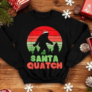 Awesome Christmas Santa Quatch For Bigfoot Lovers shirt
