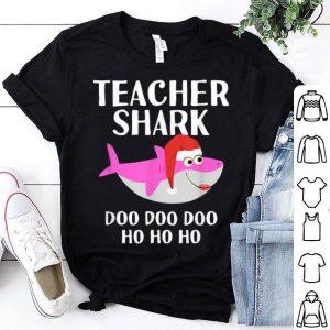 Awesome Christmas Teacher Shark Doo Doo Women Gifts & Pajamas shirt