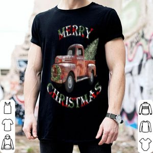 Awesome Christmas Truck & Tree Vintage Style Merry Christmas shirt