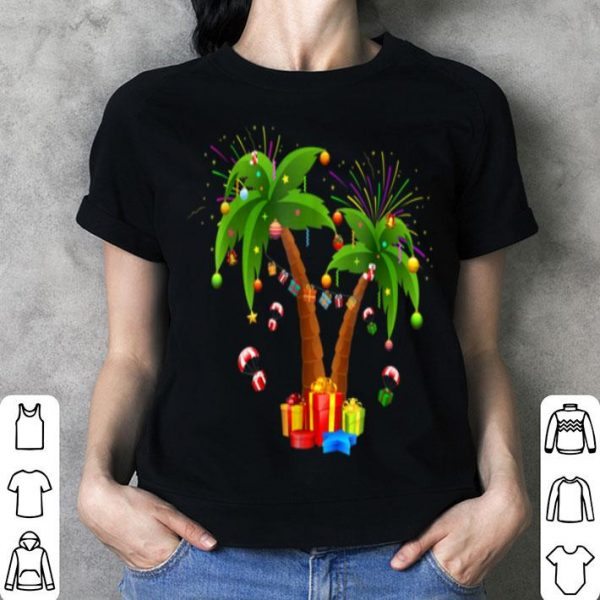 Awesome Decorated Christmas Palm Tree Tropical Xmas Coconut shirt