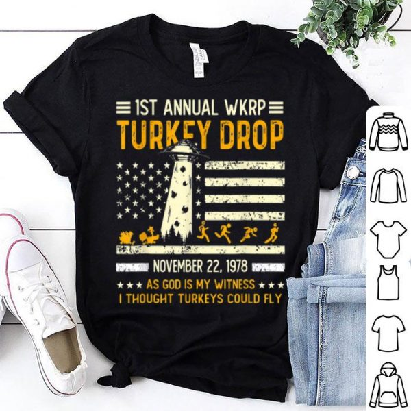 Awesome Funny Wkrp-Turkey-Drop Vintage Thanksgiving Day shirt