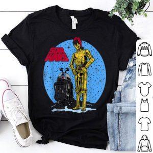 Awesome Star Wars R2-D2 & C-3PO Snowy Christmas Portrait shirt