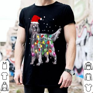 Beautiful Christmas Lights English Setter Dog shirt