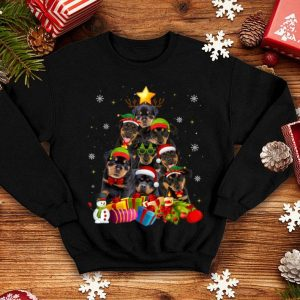 Beautiful Funny Rottweiler Christmas Tree Gifts Xmas sweater