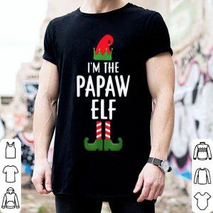 Beautiful I'm The Papaw Elf Matching Family Group Christmas shirt