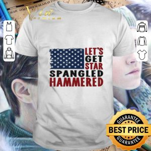 Cheap American flag let's get star spangled hammered 4th of July shirt