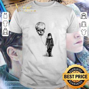 Cheap Girl Skull balloon shirt