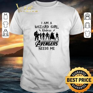 Cheap Harry Potter I Am A Wizard Girl Unless Avengers Need Me shirt