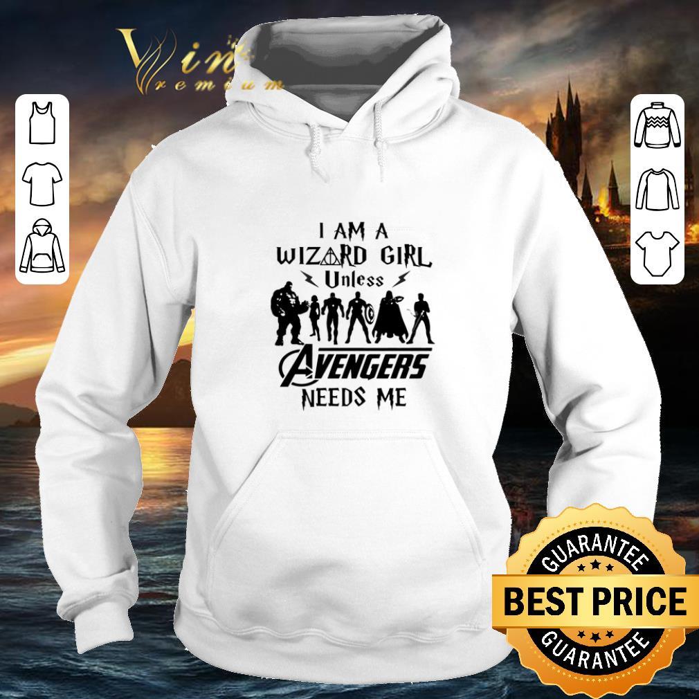 Cheap Harry Potter I Am A Wizard Girl Unless Avengers Need Me shirt 4 - Cheap Harry Potter I Am A Wizard Girl Unless Avengers Need Me shirt