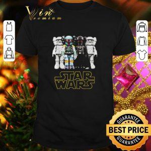Cheap Kaws Star Wars Stormtrooper Boba Fett Darth Vader shirt