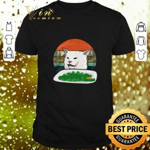 Cheap Woman Yelling Confused white Cat at Dinner vintage shirt