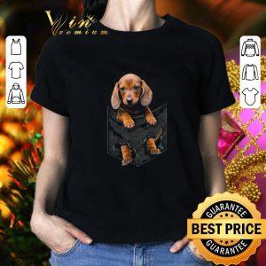 Funny Dachshund in pocket shirt