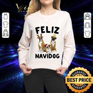 Funny Feliz Navidog Boxer Christmas shirt 1