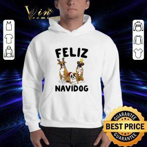 Funny Feliz Navidog Boxer Christmas shirt 2