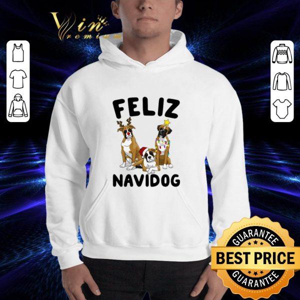 Funny Feliz Navidog Boxer Christmas shirt