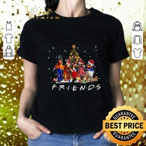 Funny Friends Mickey Mouse characters Christmas tree Disney shirt