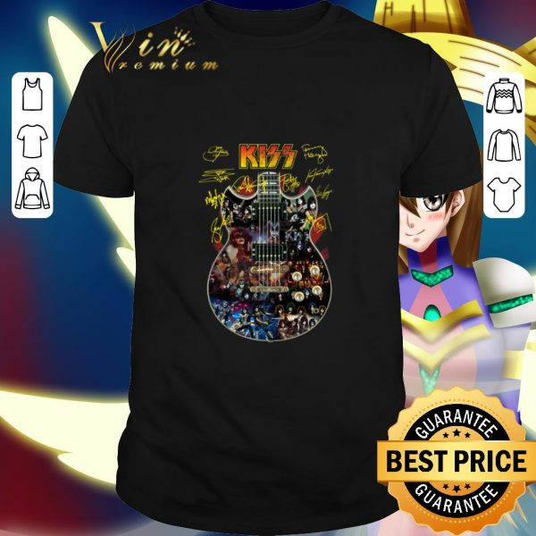Funny Kiss signatures guitarist shirt