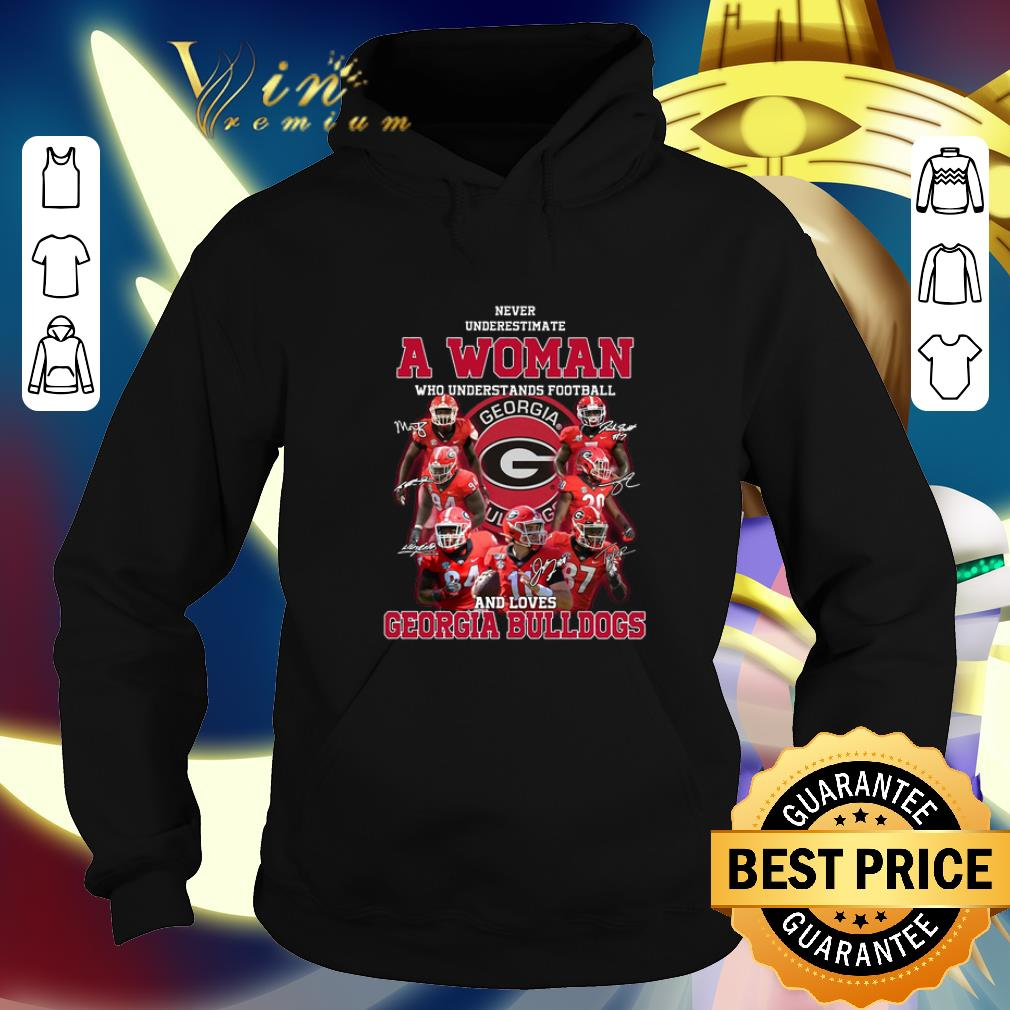 Funny Never underestimate a woman who understands Georgia Bulldogs shirt 4 - Funny Never underestimate a woman who understands Georgia Bulldogs shirt