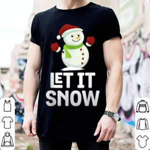 Hot Let It Snow Funny Snowman Snowflakes Christmas Pun shirt