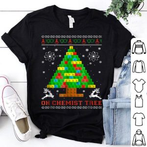 Hot Oh Chemist Tree Merry Christmas Chemistree shirt