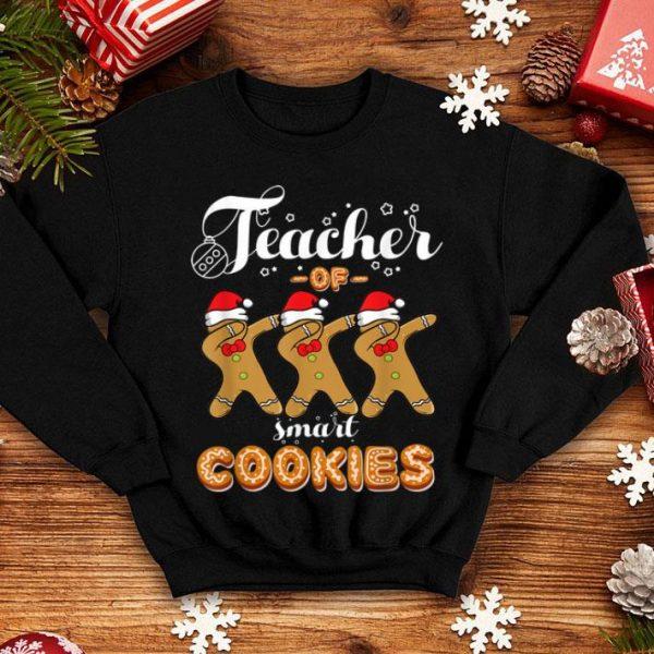 Hot Teacher Of Smart Cookies Dabbing Gingerbread Christmas Gift shirt