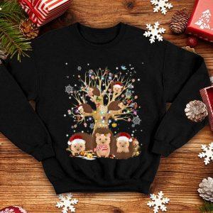 Nice Funny Hedgehogs Santa Hat Christmas Tree Ornament Decor Gift shirt