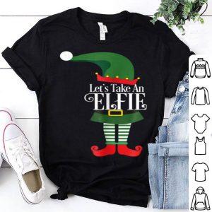 Nice Let's Take An Elfie Santas Christmas Elf Selfie Tee sweater