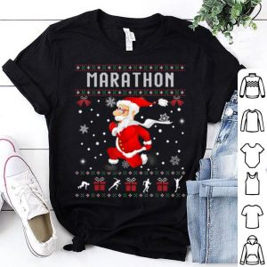 Nice Marathon Santa Claus Ugly Christmas Sweater Sport Lover shirt