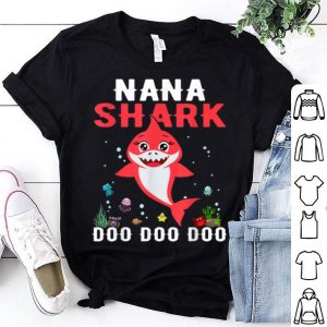 Nice Nana Shark Mother Grandma Halloween Christmas shirt