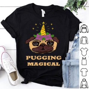 Nice Pug Unicorn Christmas Sparkle Glitter Kids Adult Magical shirt