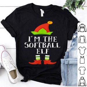 Nice Softball Elf Christmas Matching Family Group Im The Elf shirt