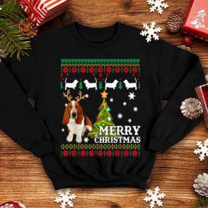 Official Basset Hound Ugly Sweater Christmas Cute Dog Gift shirt