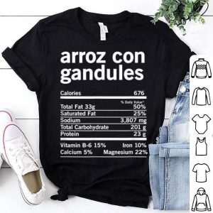 Official Funny Arroz Con Gandules Nutrition Thanksgiving Christmas sweater