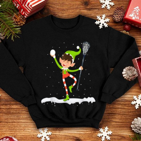 Official Funny Lacrosse Elf Merry Christmas Lacrosse Lover shirt