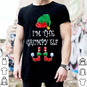 Official I'm The Grumpy Elf Christmas Matching Family Group shirt