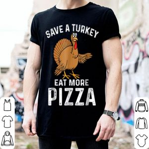 Official Turkey Eat Pizza Funny Thanksgiving Kids Adult Day shirt