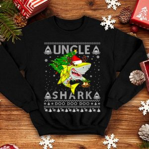 Official Uncle Shark Santa Christmas Family Matching Pajamas shirt